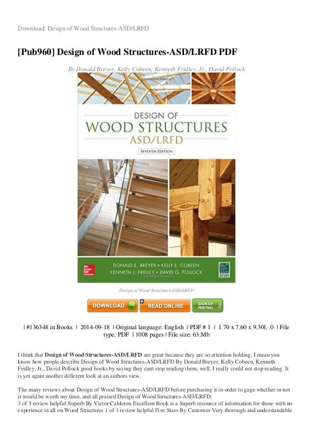 Afpa wood structure design data pdf download