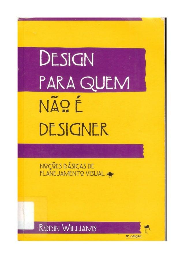 Design para quem não é designer Robin Williams