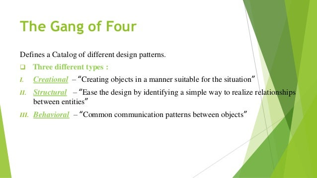 Design pattern-presentation