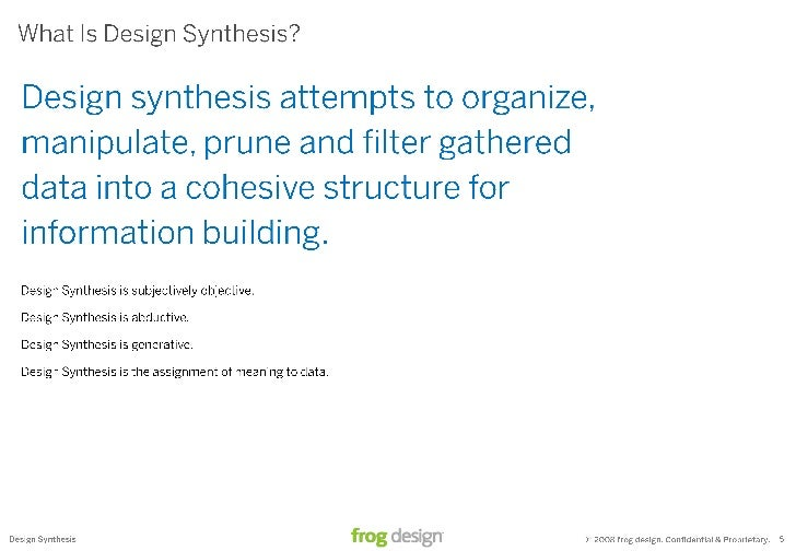 Design Synthesis