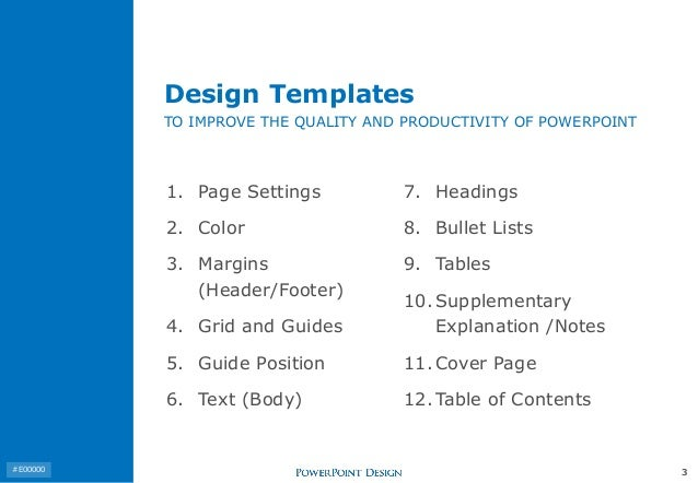 design templates to improve the quality and productivity of powerpoint