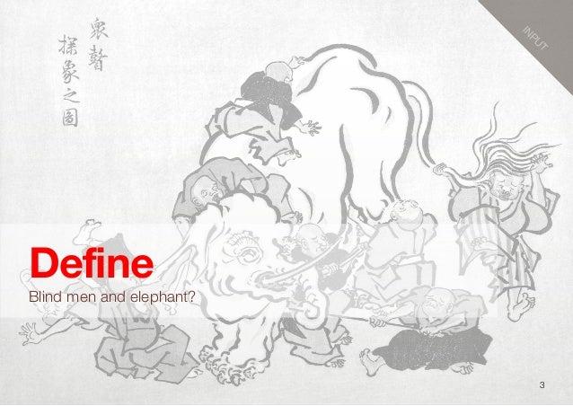 3DefineBlind men and elephant?INPUT
