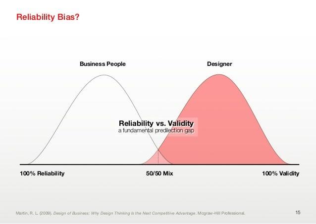 Reliability Bias?15Business People Designer100% Reliability 100% ValidityReliability vs. Validitya fundamental predilectio...