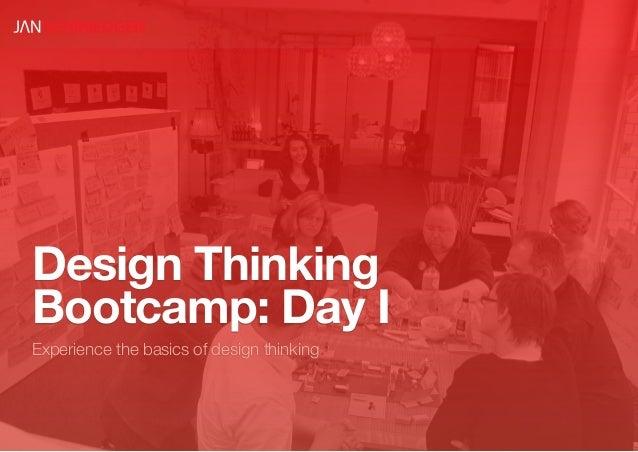 Design ThinkingBootcamp: Day IExperience the basics of design thinking