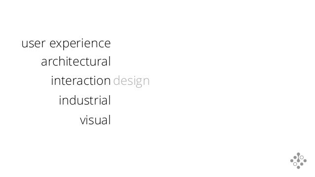 design industrial architectural visual interaction user experience