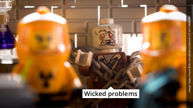 Wicked problems Image:https://www.flickr.com/photos/clement127/16110848444/