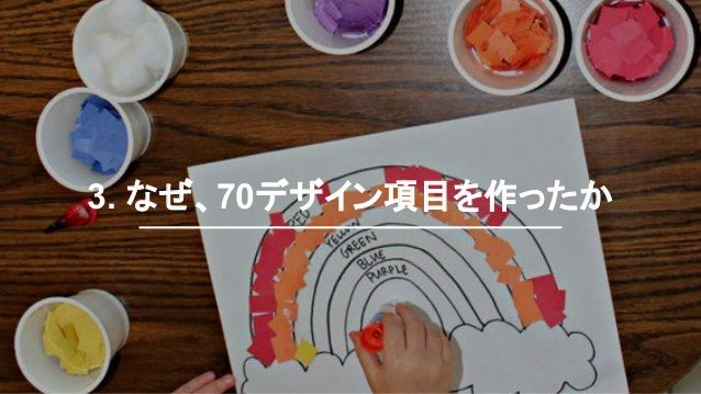 3. なぜ、70デザイン項目を作ったか