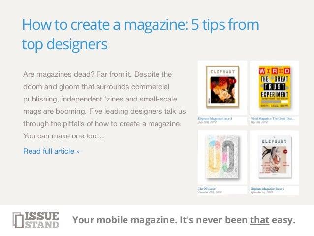 Magazine design tips and tricks