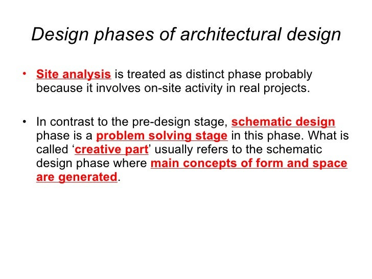 Architectural Design 1 Lectures by Dr. Yasser Mahgoub - Process