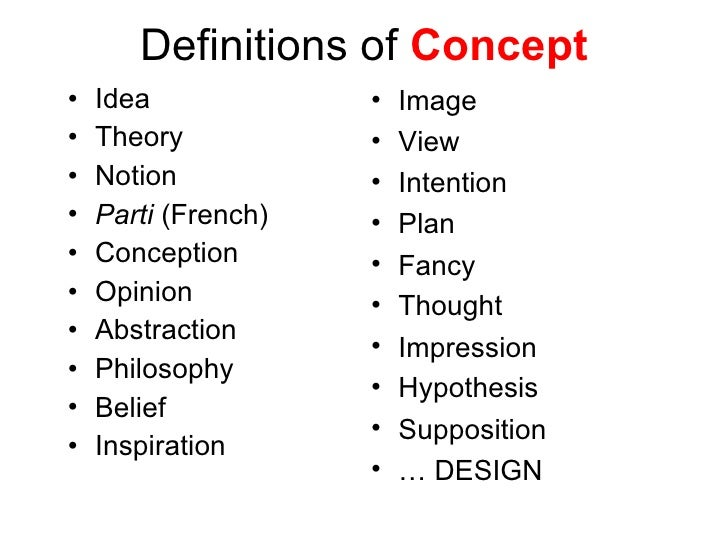 Architectural design 1 lectures by dr yasser mahgoub for Concept architectural definition