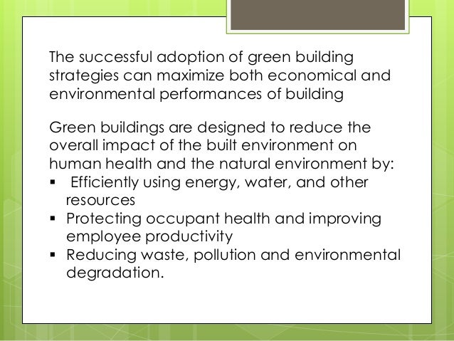green building and architecture Slide 3