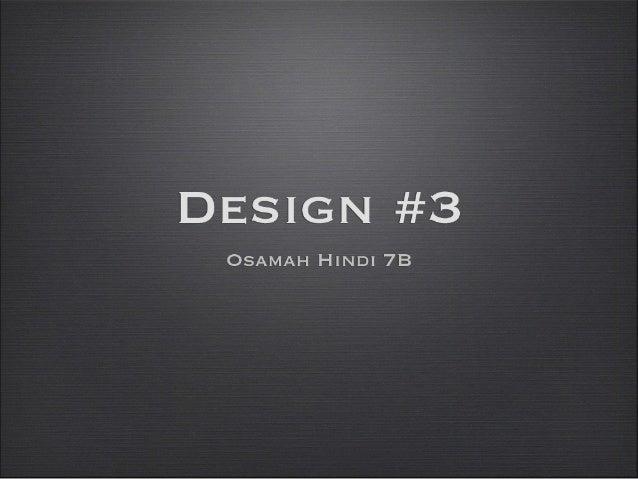 IT Design #3