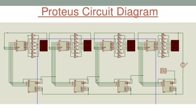 7447 Circuit Diagram | Design 4 Digit Decimal Counter Using 7 Segment Display Amp 7447 Dec