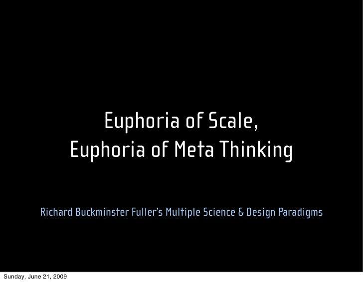 Euphoria of Scale,                         Euphoria of Meta Thinking              Richard Buckminster Fuller's Multiple Sc...