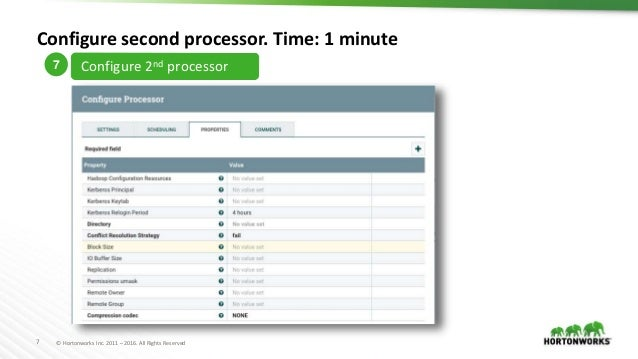 Design a dataflow in 7 minutes with apache nifihdf all rights reserved configure second processor sciox Images