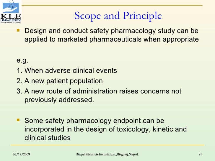 Design And Conduct Safety Pharmacology And Toxicology Study