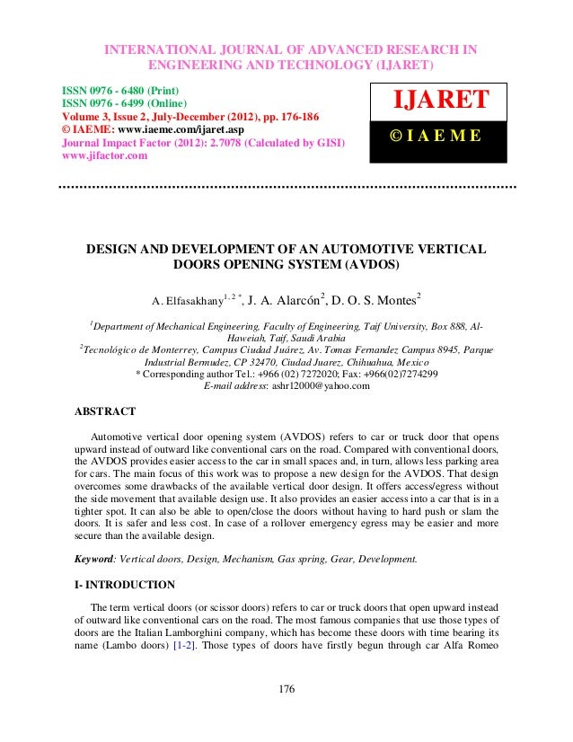 International Journal of Advanced JOURNAL OF ADVANCED RESEARCH IN         INTERNATIONAL Research in Engineering and Techno...