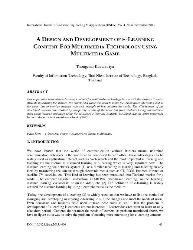 International Journal of Software Engineering & Applications (IJSEA), Vol.4, No.6, November 2013  A DESIGN AND DEVELOPMENT...
