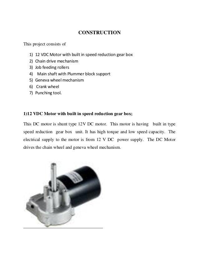Design and fabrication of geneva mechanism based punching machine
