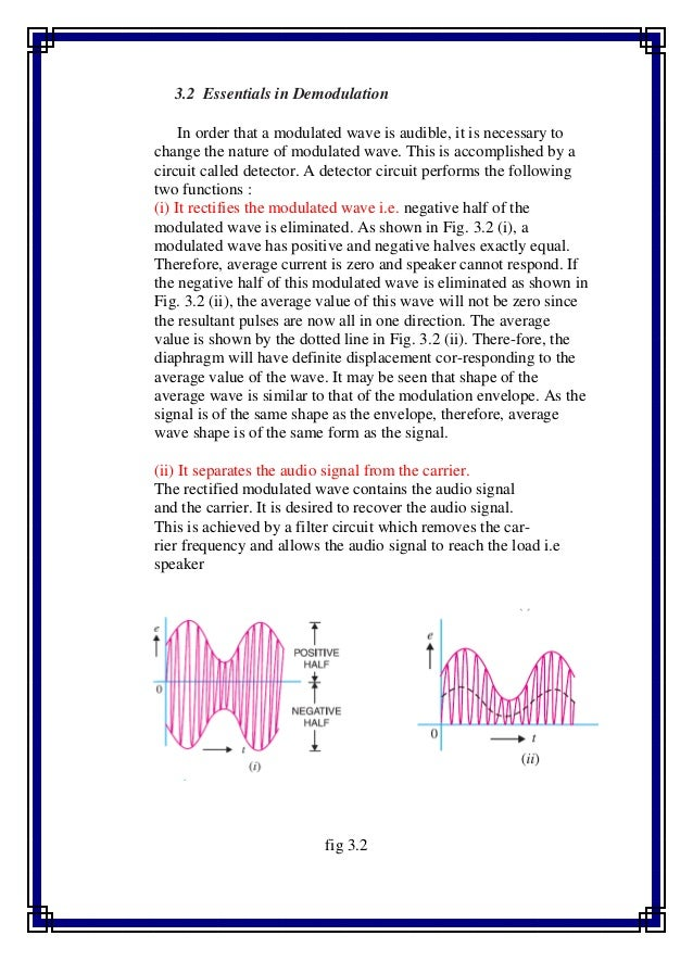 design of frequency modulator and demodulator Fm demodulator classification • coherent & non-coherent – a coherent detector has two inputs—one for a reference signal, such as the synchronized oscillator signal, and one  what is the carrier frequency 3 what is the modulation index 4 find the maximum freq deviation 5 frequency deviation sensitivity (df in rad/v) 6 calculate the total loop gain 7 what.