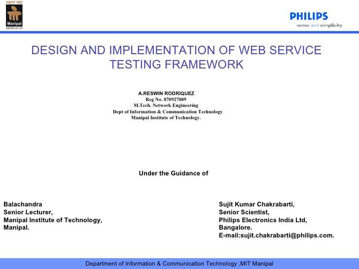 A.RESWIN RODRIQUEZ Reg No. 070927009 M.Tech. Network Engineering Dept of Information & Communication Technology Manipal ...