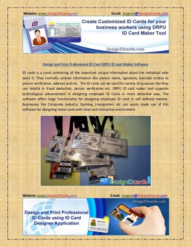 design and print professional id card drpu id card maker