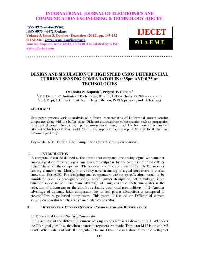 INTERNATIONAL JOURNAL OF ELECTRONICS AND      International Journal of Electronics and Communication Engineering & Technol...