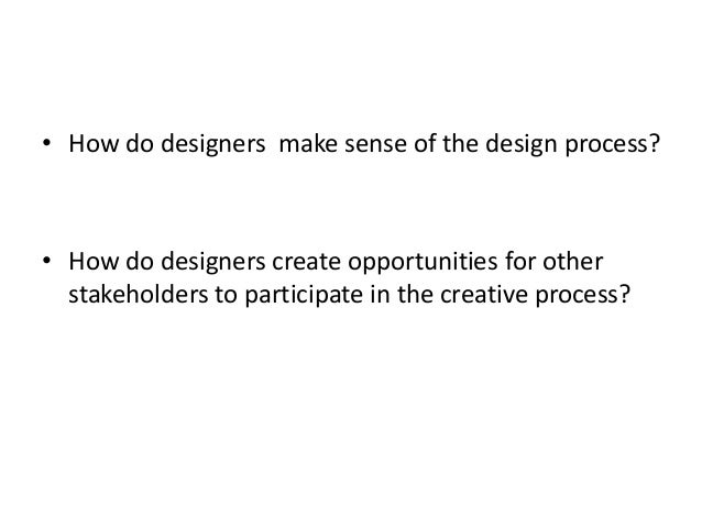 Design as sensemaking - an autoethnography on the early phases of product development Slide 2