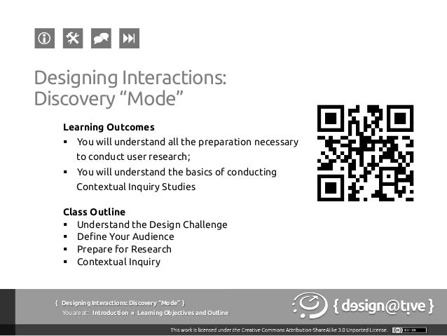 Designing Interactions / Experiences: Lecture #02 Slide 2