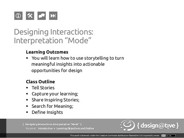 Designing Interactions / Experiences: Lecture #03 Slide 3