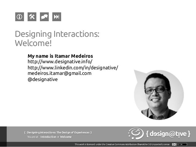 Designing Interactions / Experiences: Lecture #05 Slide 2