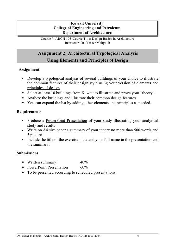 Awesome Dr. Yasser Mahgoub   Architectural Design Basics  KU (2) 2003 2004 5; 6.