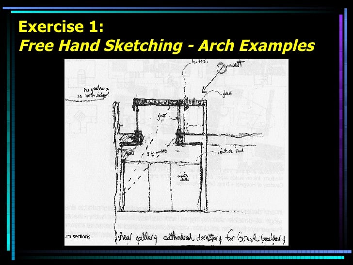 Exercise 1: Free Hand Sketching - Arch Examples