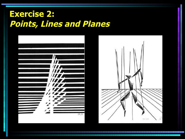 Exercise 2: Points, Lines and Planes