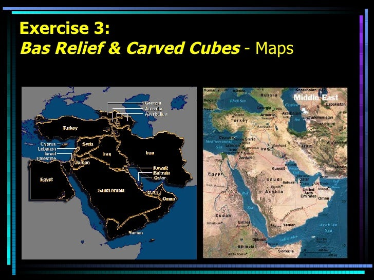 Exercise 3: Bas Relief & Carved Cubes  - Maps