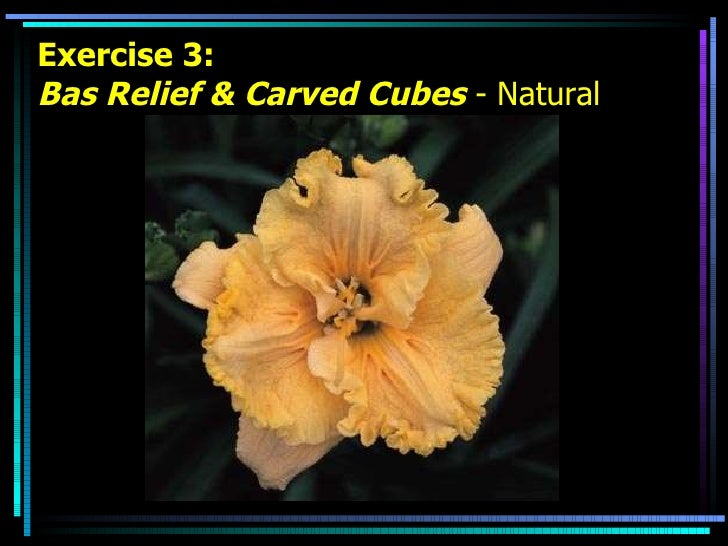 Exercise 3: Bas Relief & Carved Cubes  - Natural