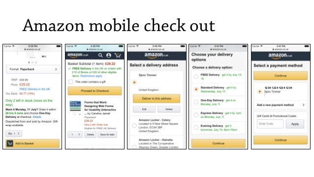 Amazon mobile check out 1234 1234 1234 1234