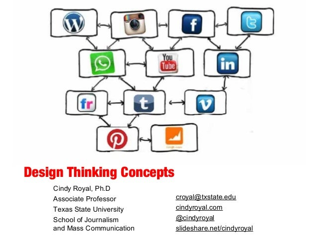 Design Thinking Concepts Cindy Royal, Ph.D Associate Professor Texas State University School of Journalism and Mass Commun...