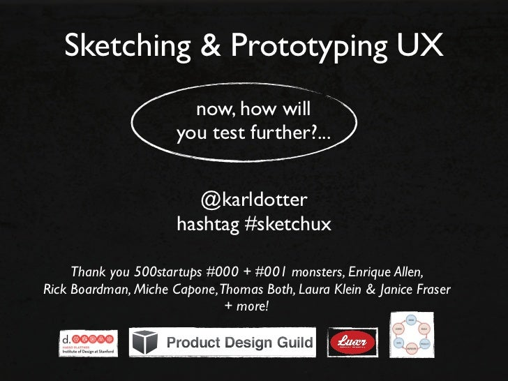 Sketching & Prototyping UX (starting with stories)