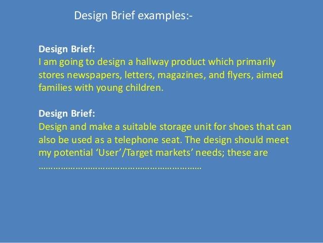 Design Brief For Engineering Design Process