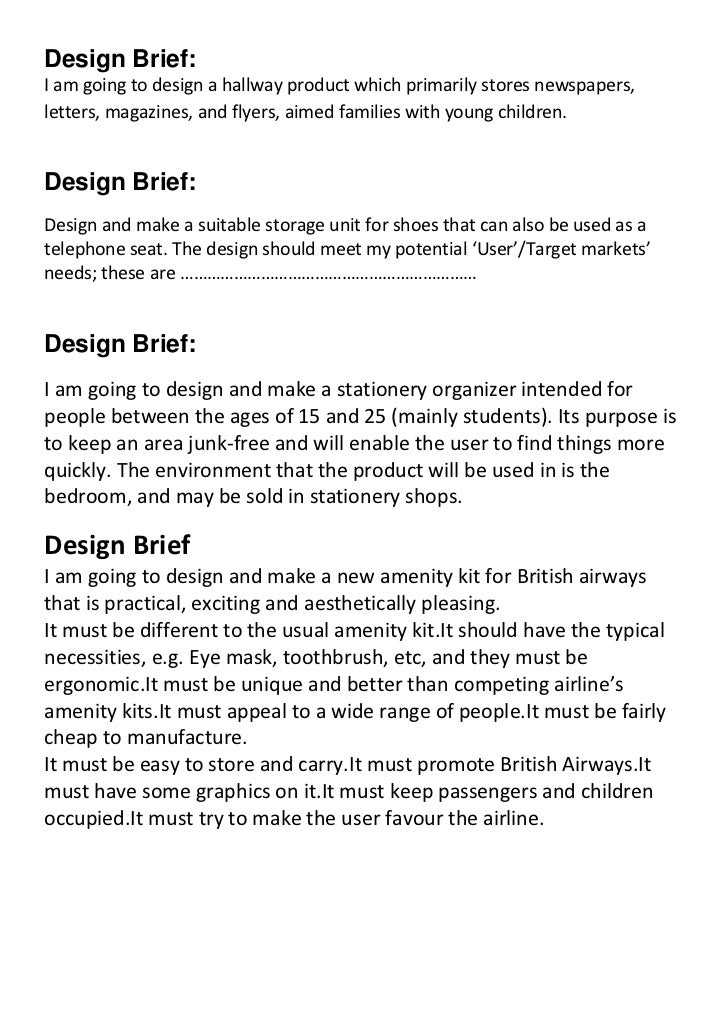 house design brief template for architect - design brief samples