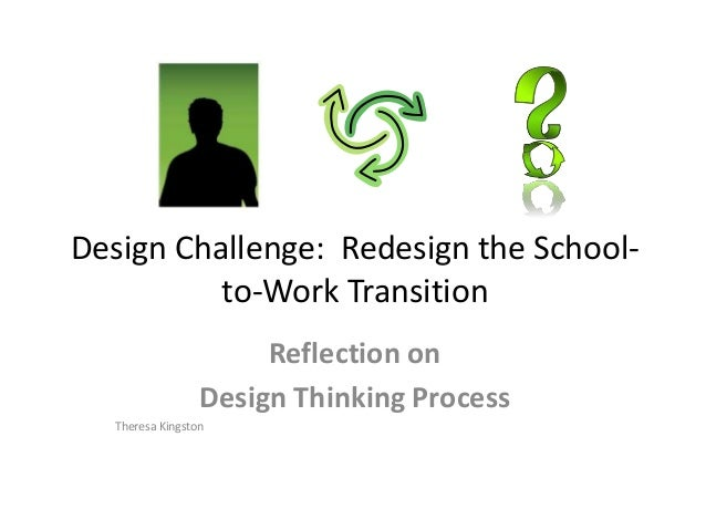 Design Challenge: Redesign the School- to-Work Transition Reflection on Design Thinking Process Theresa Kingston