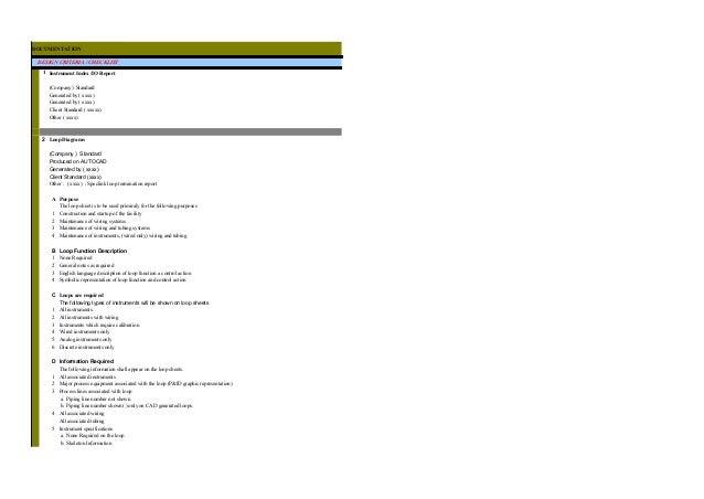Design Checklist-Instrumentation & Control Systems