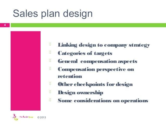 Designing a new sales compensation plan