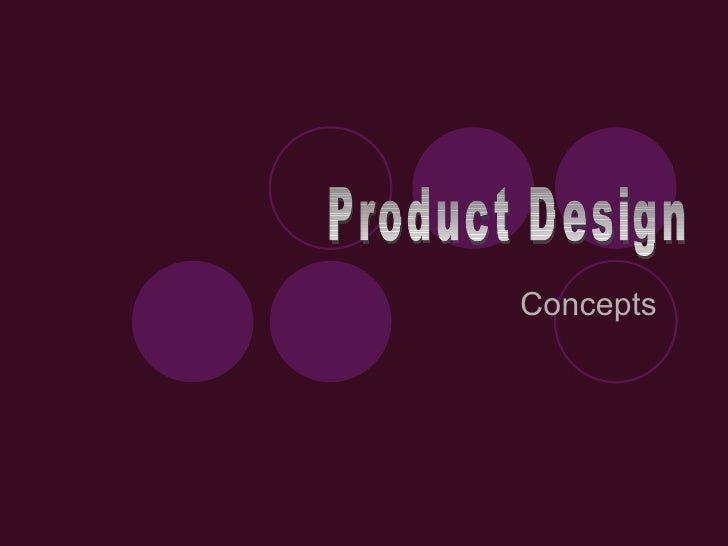 Concepts   Product Design