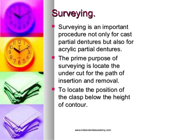 Surveying.Surveying.  Surveying is an importantSurveying is an important procedure not only for castprocedure not only fo...