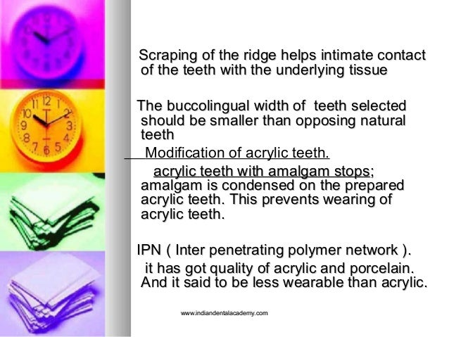Scraping of the ridge helps intimate contactScraping of the ridge helps intimate contact of the teeth with the underlying ...