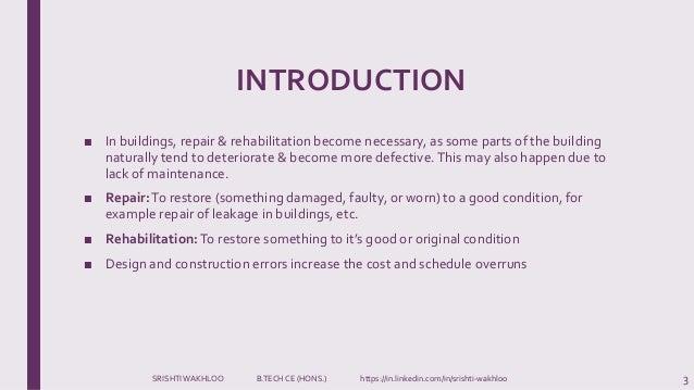 Design & Construction Errors- Building Maintenance and Repairs  Slide 3