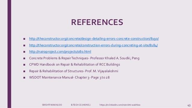 design construction errors building maintenance and repairs rh slideshare net