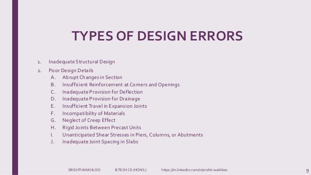 Design Amp Construction Errors Building Maintenance And Repairs